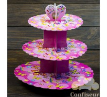 Стенд для капкейков Розовые бабочки