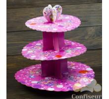 Стенд для капкейков Розовая корона