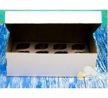 Коробка для 12 капкейков 350*250*110 белая