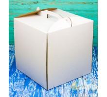 Коробка для торта 250*250*300 белая