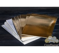 Подложка прямоугольная золото-серебро 30Х40см