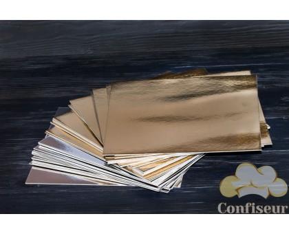 Подложка квадратная золото-серебро 25Х25 см