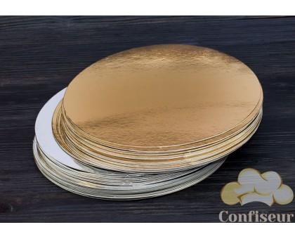 Подложка золото-серебро d=9см