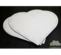 Подложка ДВП белая сердце (love you) 30см