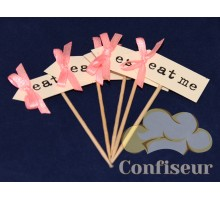 Флажок Eat Me 10шт (розовый)
