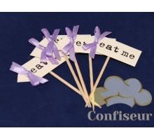 Флажок Eat Me 10шт (пурпурный)