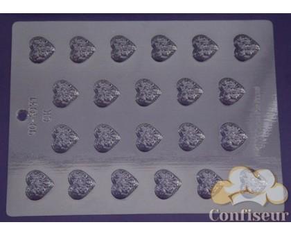 """Молд для шоколада 1031 """"Сердце в розах"""""""