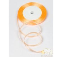 Лента атласная 5 мм, односторонняя, цвет - Персиковая