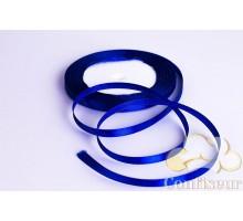 Лента атласная 5 мм, односторонняя, цвет - Синяя