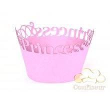 """Обёртки для капкейков """"Princess 2 """" розовый"""
