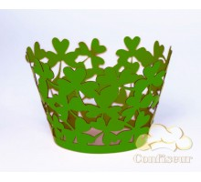 """Wrappers for cupcakes """"Clover"""" green"""