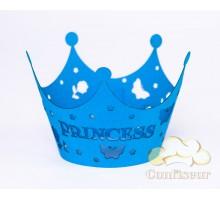 """Обёртки для капкейков """"Princess"""" голубой"""