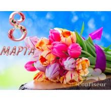 """Вафельная картинка """"8 Марта"""" - 11"""
