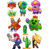 """Edible wafers images """"Brawl Stars"""" -17"""