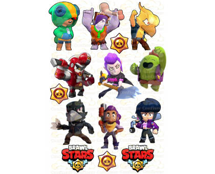 "Edible wafers images ""Brawl Stars"" -18"