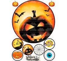 """Вафельная картинка """"Halloween""""-3"""