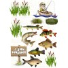 """Edible wafers images """"Fisherman"""" -10"""