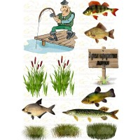 """Edible wafers images """"Fisherman"""" - 3"""