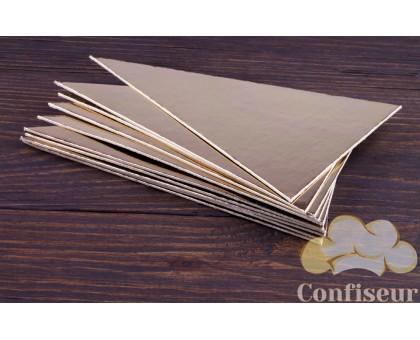 Подложка треугольник серебро/золото 135*135*95 см