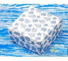 """Коробка М0027-о15 """"Подарочная"""" Новый год, голубая"""